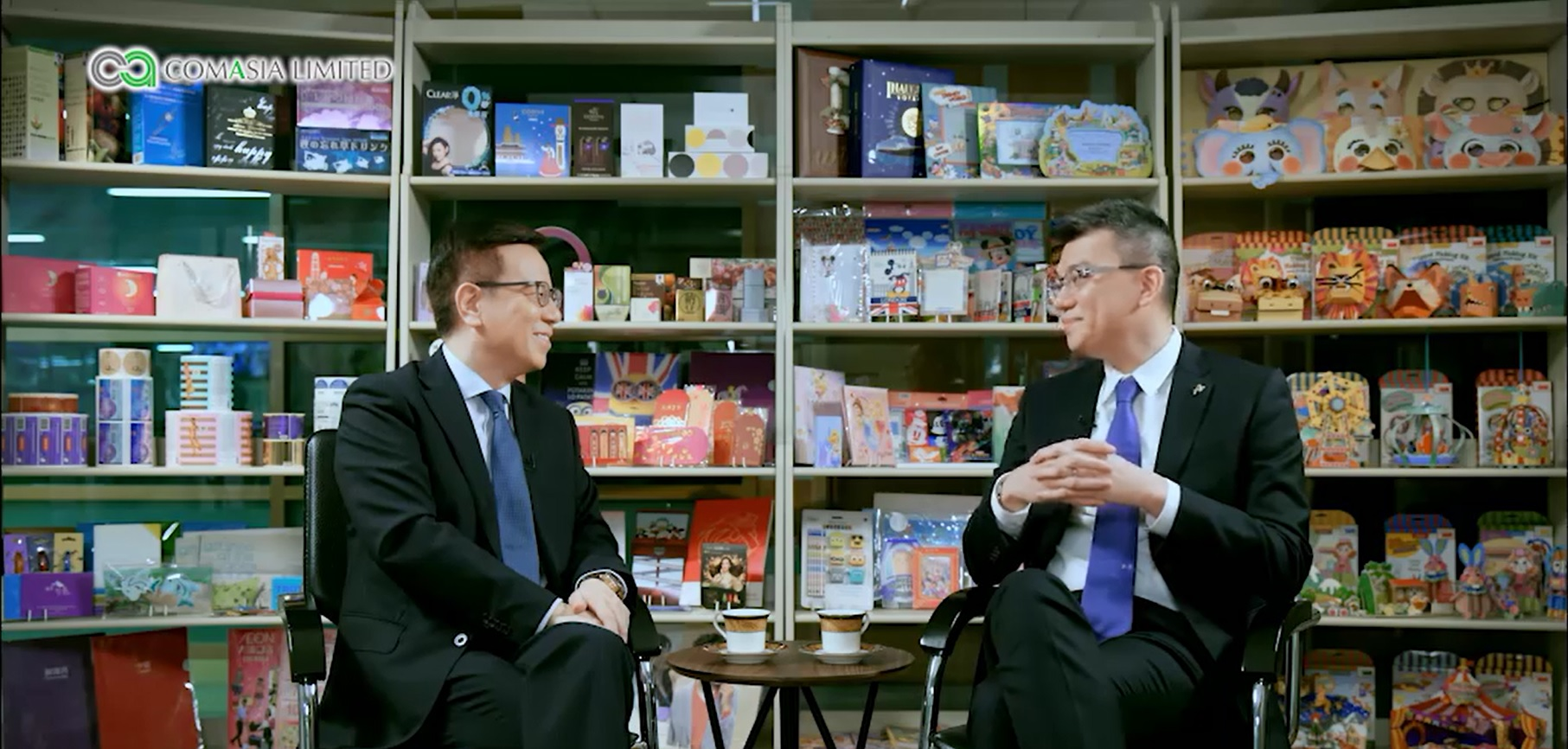 Advance Label Limited Managing Director Mr. Andrew Law interviewed by Mr. Chan Wing Luk broadcast on TVB